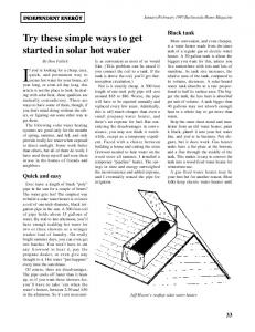 Try these simple ways to get started in solar hot water