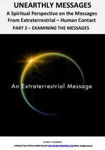 Unearthly message 2