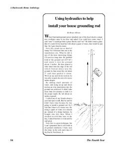 Using hydraulics to help install your house grounding rod
