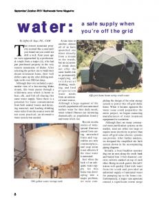 Water  a safe supply when you're off the grid