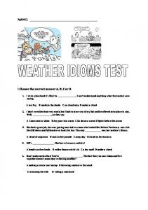 weather idioms test