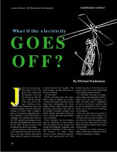 What if the electricity goes off
